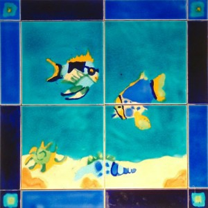 Marine Life Panel, Cobalt Blue & Ultramarine Border with Florida 'D' & 'F' Tacos