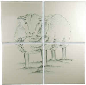 Sheep 4 Tile Panel