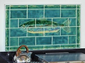 Unique Trout Panel with Jazz Stripe Border
